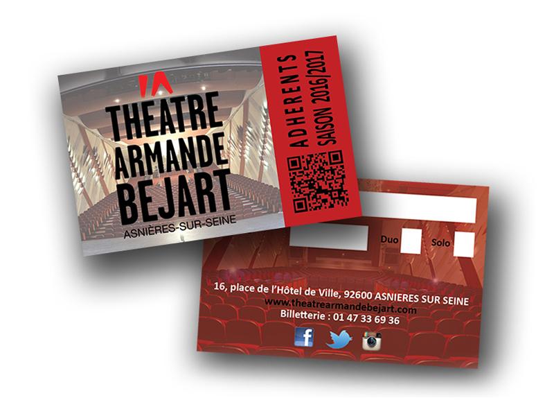 Préparation Saison 2016-2017 au Théâtre Armande Béjart une nouvelle carte de fidélité