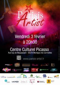 Soirée Parisis Artist du 3 février 2017